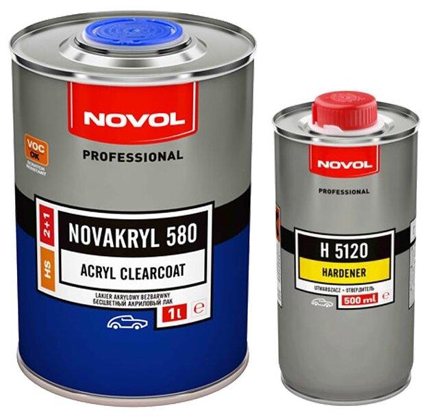 Комплект (автомобильный лак, отвердитель для лака) NOVOL Novakryl HS (1 л), H 5120 (0,5 л)