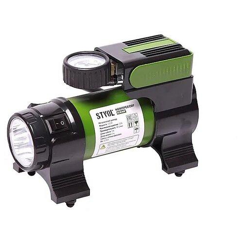 Автомобильный компрессор STVOL SCR40F зеленый/черный