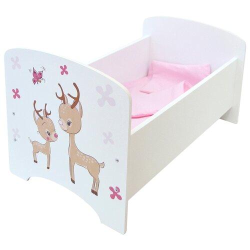 Купить PAREMO Кроватка Мимими Крошка Зуи (PFD120-94) белый, Мебель для кукол