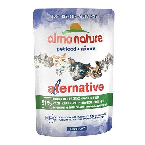 Влажный корм для кошек Almo Nature Alternative, с тихоокеанским тунцом 55 г