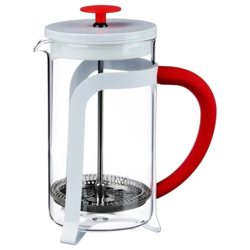 Френч-пресс Satoshi Kitchenware Мэйдзи (0.6 л) белый/красный