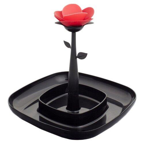 Vigar ваза для закусок Rose 20 см черный щетка для пыли с ручкой rengo quelle vigar 1011805