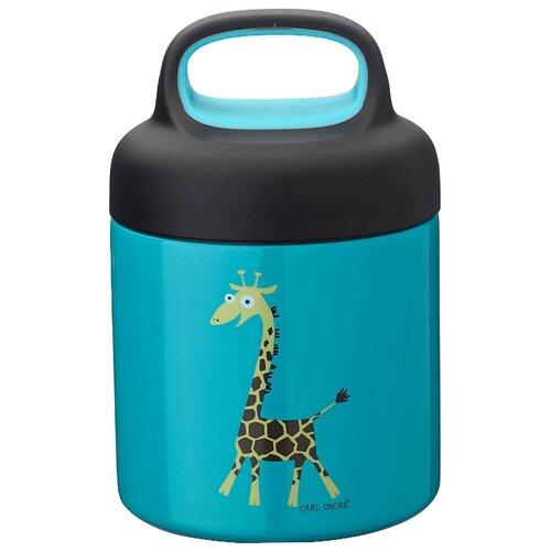 Фото - Термос для еды Carl Oscar LunchJar Giraffe (0.3 л) бирюзовый термокружка carl oscar click n´sip 0 4 л белый