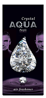 Aqua Ароматизатор для автомобилей Crystal Drop Purple