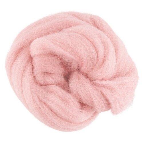 Gamma Шерсть для валяния 100% овечья полутонкая 50 г (TFS-050) 3339 розовый кварц