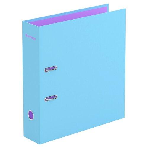 Berlingo Папка-регистратор с арочным механизмом Haze А4, 80 мм, картон голубой папка на 2 х кольцах galaxy а4 салатовая