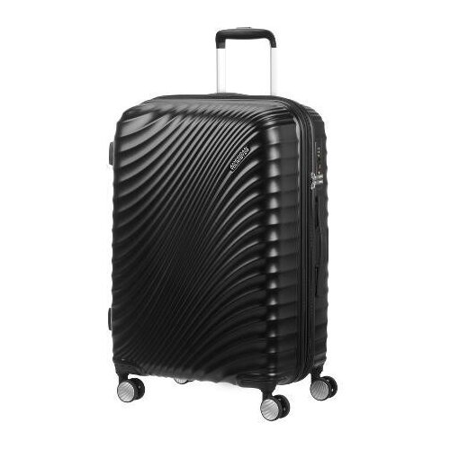 Чемодан American Tourister JetGlam M 77.5 л, Metallic Black чемодан american tourister wavebreaker 64 л mickey comics red