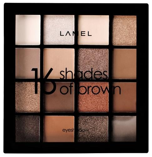 Lamel Professional Тени для век 16 Shades of brown