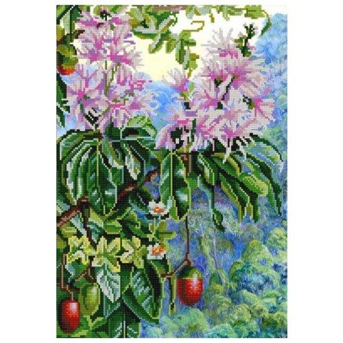 Купить Экзотические цветы 4 (рис. на сатене 29х39) 29х39 Конек 9965, Конёк, Канва