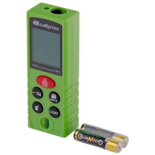 Лазерный дальномер Сибртех PM-40 зеленый лазерный дальномер veber 6x25 lrf600 зеленый