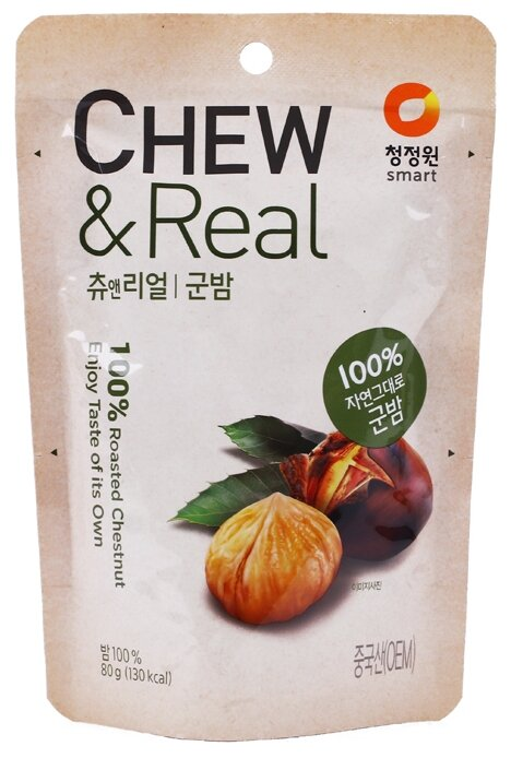 Каштаны жареные Daesang Chew & Real 100% Roasted Chestnut
