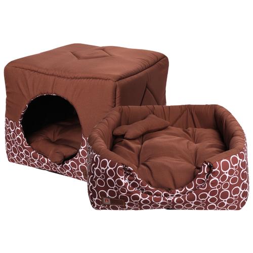 Лежак для собак и кошек Зоогурман Домосед 45х45х45 см шоколадный