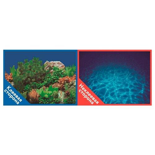 Пленочный фон Prime Растительный пейзаж/Синее море двухсторонний 50х100 см