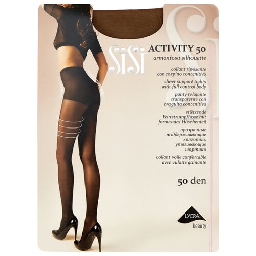 Фото - Колготки Sisi Activity 50 den, размер 2-S, naturelle (бежевый) колготки sisi activity 30 den размер 3 m naturelle бежевый