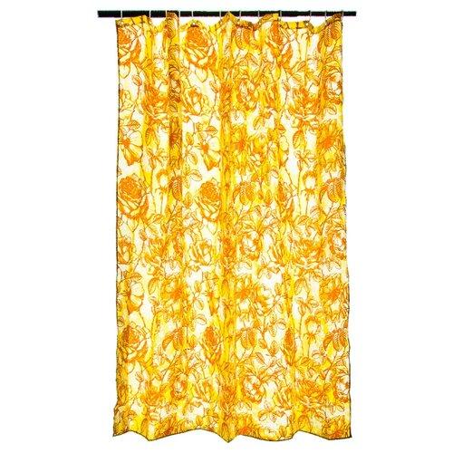 Штора для ванной Vetta 461-433 180х180 бежевые цветы