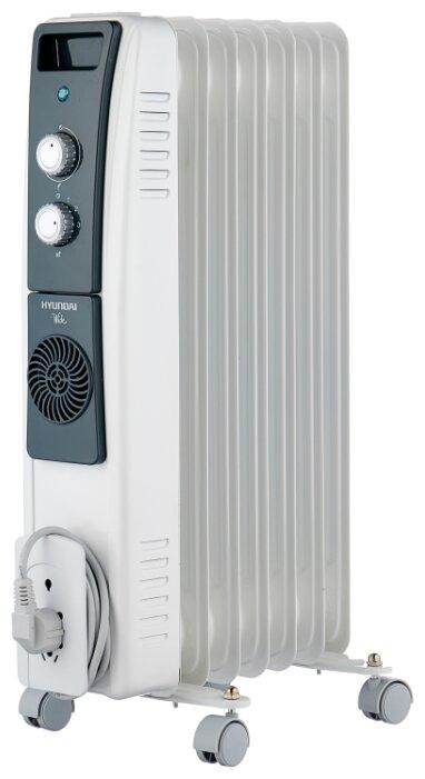 Купить Масляный радиатор Hyundai H-HO8-07-UI843 белый/черный по низкой цене с доставкой из Яндекс.Маркета (бывший Беру)