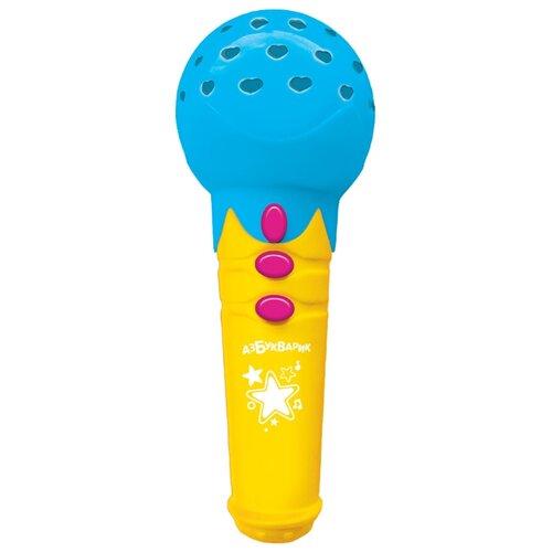 Купить Азбукварик микрофон Песенки для малышей голубой, Детские музыкальные инструменты
