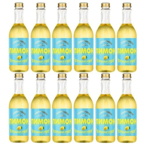 Газированный напиток Родники Кавказа Лимон, 0.5 л, 12 шт.