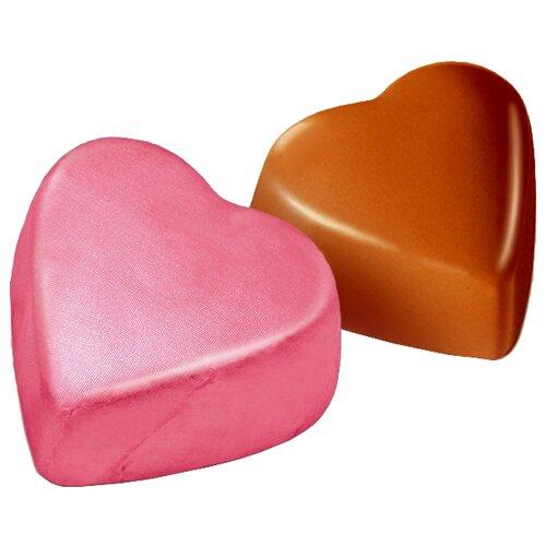 Конфеты Победа вкуса Сердечки с ореховым кремом розовые, коробка 3500 г фото