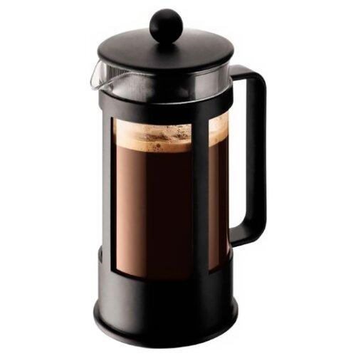 Френч-пресс Bodum Kenya 1783 (0,35 л) черный кофейник с прессом kenya 0 35 л черный 1783 01lid bodum