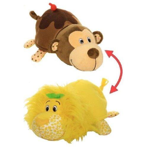 Купить Мягкая игрушка 1 TOY Вывернушка Ням-Ням Лев-Мартышка с ароматом 40 см, Мягкие игрушки