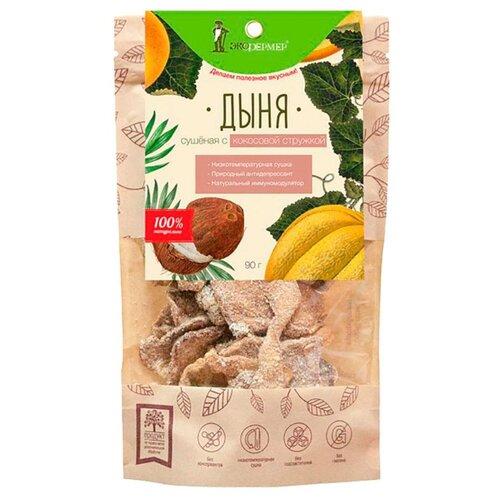 Дыня Экофермер сушеная с кокосовой стружкой, 90 г rich шоколад молочный с кокосовой стружкой 70 г
