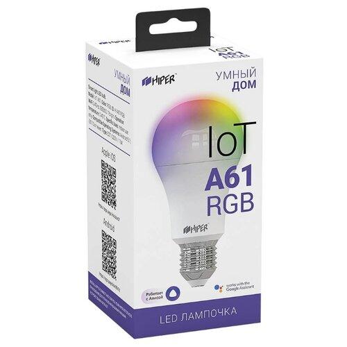 Фото - Лампа светодиодная HIPER IoT A61 RGB, E27, A60, 11Вт a61