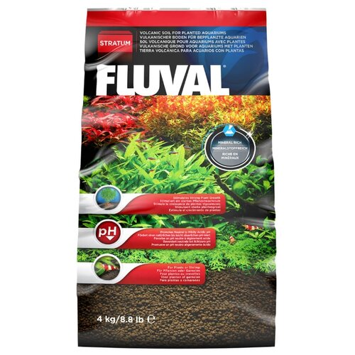 Грунт Fluval Plant and Shrimp Stratum, 4 кг коричневый
