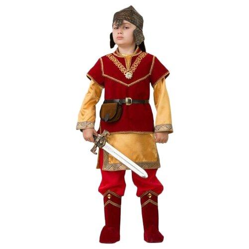 Купить Костюм Батик Добрыня (4002), красный/золотой, размер 146, Карнавальные костюмы