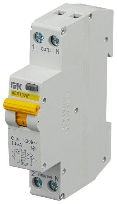 Дифференциальный автомат IEK АВДТ-32М 2П 10 мА C
