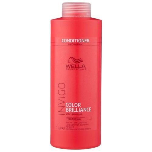 Wella Professionals бальзам-уход Invigo Color Brilliance Fine/Normal для защиты цвета окрашенных нормальных и тонких волос, 1000 мл wella professionals elements лёгкий обновляющий бальзам 1000 мл