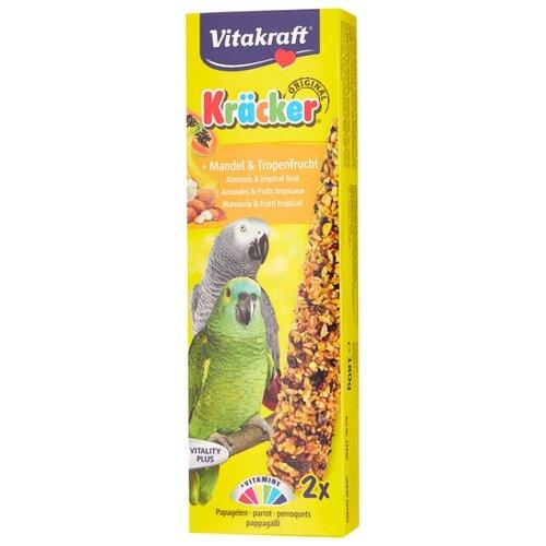 Лакомство для птиц Vitakraft Крекеры для амазонских попугаев миндаль и фрукты (21296) 240 г