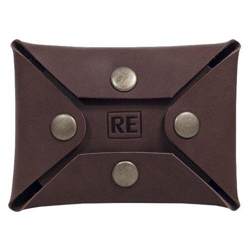Кредитница Reconds на кнопках, шоколад кошелек reconds reconds mp002xu02f9z