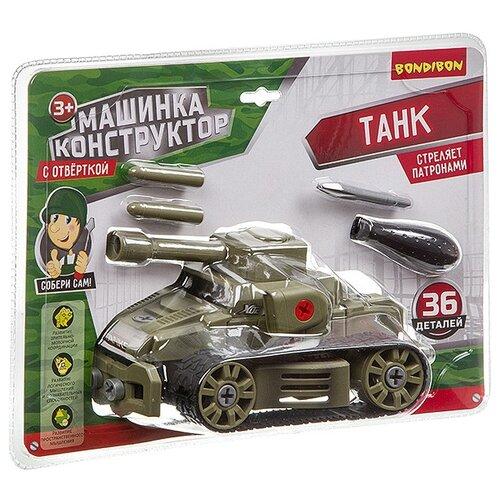 Купить Винтовой конструктор BONDIBON С отверткой ВВ3385 Танк, Конструкторы