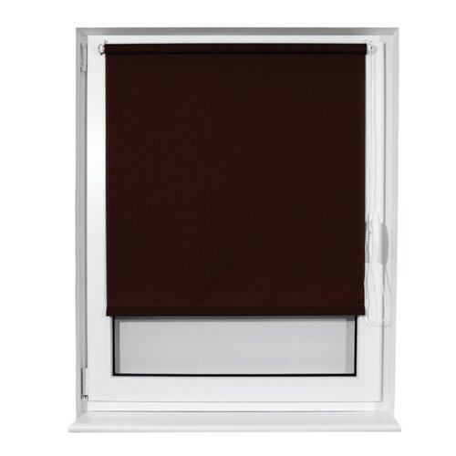Фото - Рулонная штора Brabix Лён коричневый S-17, 50х175 см штора рулонная плайн 50х175 см фисташковый