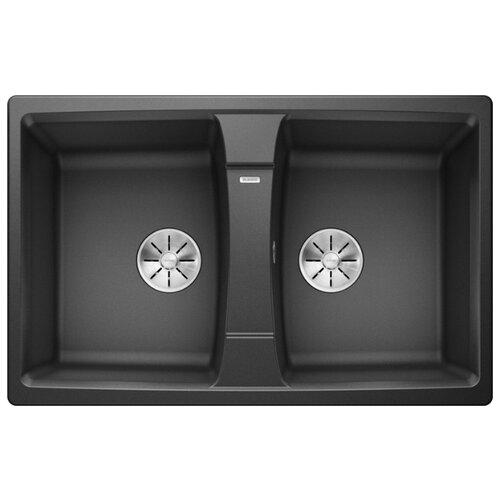 Врезная кухонная мойка 78 см Blanco Lexa 8 Silgranit PuraDur антрацит blanco lexa 8s silgranit антрацит