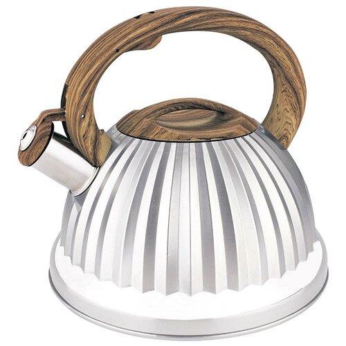 Alpenkok Чайник со свистком AK-528 3 л, серебристый