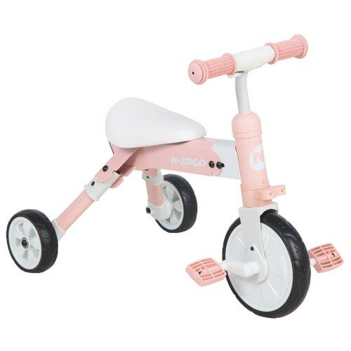 Купить Трехколесный велосипед N.Ergo A003 white/pink, Трехколесные велосипеды