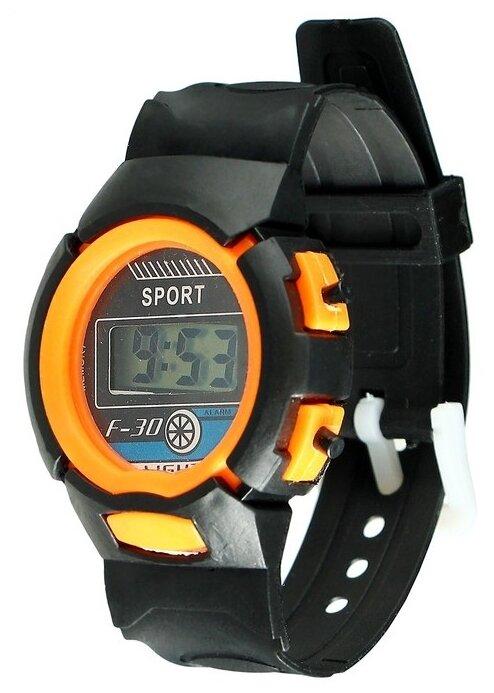 """Купить Часы наручные детские """"Спорт"""", электронные, ремешок силикон, длина 23 см, цвет микс по низкой цене с доставкой из Яндекс.Маркета (бывший Беру)"""