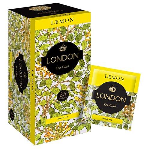 Чай черный London tea club Lemon в пакетиках , 25 шт.