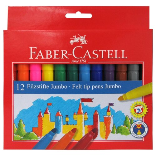 цена на Faber-Castell Набор фломастеров Jumbo, 12 шт. (554312)