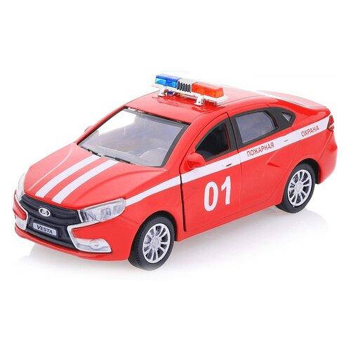 Купить Легковой автомобиль Autotime (Autogrand) Lada Vesta Пожарная охрана (68333) 1:36 16.5 см красный, Машинки и техника