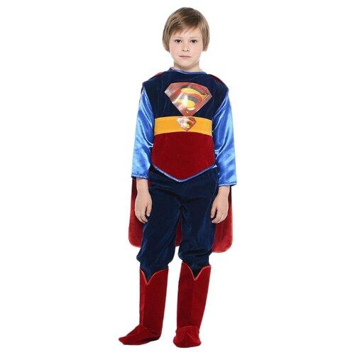 Купить Костюм Батик Супермен (406), синий/красный, размер 158, Карнавальные костюмы