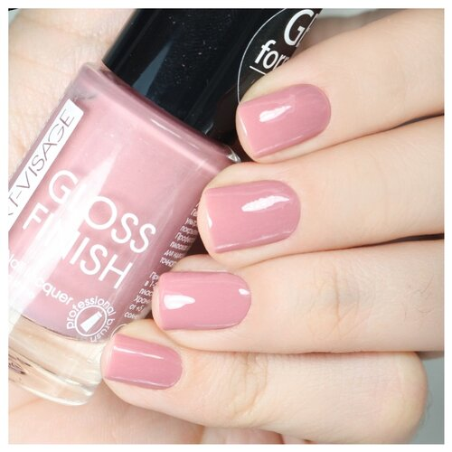 цена на Лак ART-VISAGE Gloss Finish Nail Lacquer, 8.5 мл, оттенок 113 розовый шоколад