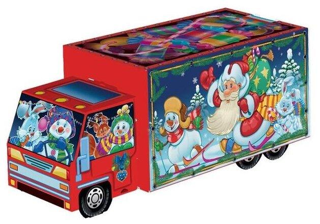 Купить Новогодний сладкий подарок Машинка Сладкоежка, картон 700 гр по низкой цене с доставкой из Яндекс.Маркета (бывший Беру)