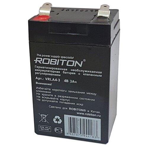 Аккумуляторная батарея ROBITON VRLA4-3 3 А·ч аккумуляторная батарея oem 2 gtl icr 18650 3 7v 3000mah ecos 26670