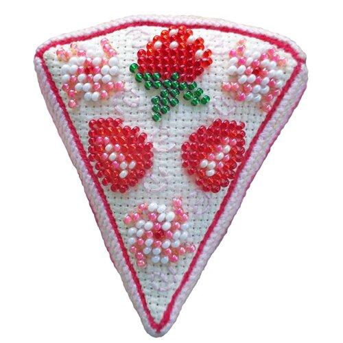 ZENGANA Набор для вышивания бисером и нитками Клубничный тортик (М-107)
