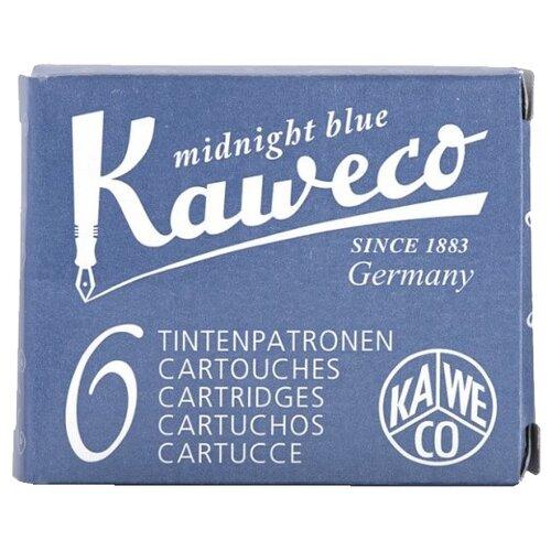 Фото - Картридж для перьевой ручки Kaweco Ink Cartridges 6-Pack (6 шт.) черный/синий lamy картридж для перьевой ручки синий 5 шт
