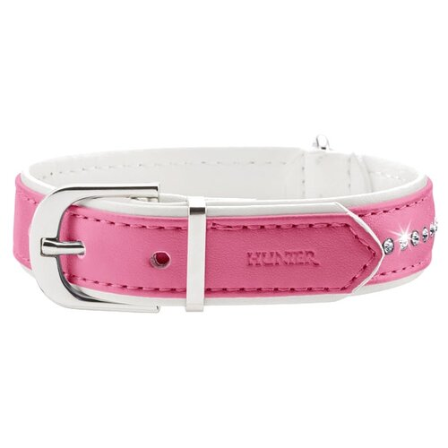 Ошейник HUNTER Modern Art Luxus 32 24-28 см pink/white