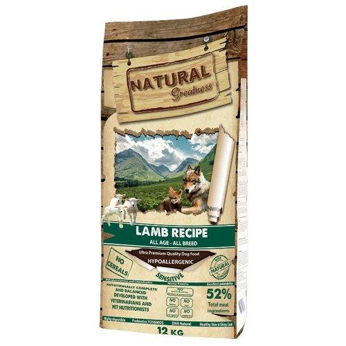 Сухой корм для собак NATURAL Greatness ягненок с горошком, с картофелем 12 кг greatness